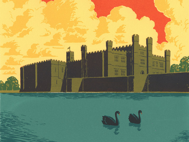 The Art of Print Making - Views of Leeds Castle by Martin Grover